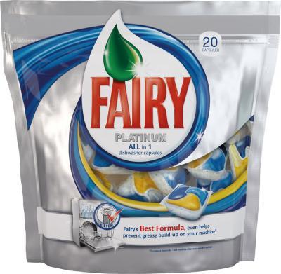 Капсулы для посудомоечных машин Fairy Platinum All-in-1 (20шт) - общий вид
