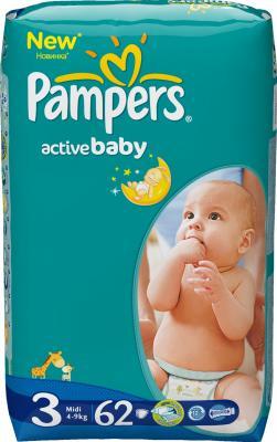 Подгузники Pampers Active Baby 3 Midi Value Pack (62шт) - общий вид