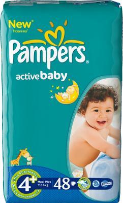 Подгузники Pampers Active Baby 4+ Maxi Plus (48шт) - общий вид