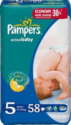 Подгузники Pampers Active Baby 5 Junior (52шт) - общий вид