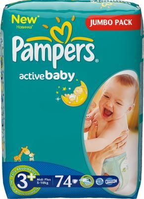 Подгузники Pampers Active Baby 3+ Midi Plus Jumbo Pack (74шт) - общий вид