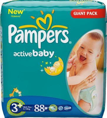 Подгузники Pampers Active Baby 3+ Midi Plus (88шт) - общий вид