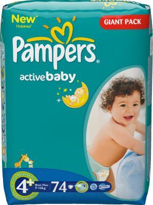 Подгузники Pampers Active Baby 4+ Maxi Plus (74шт) - общий вид