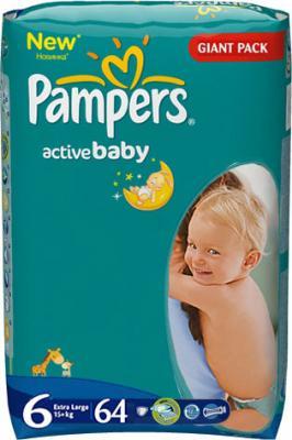 Подгузники Pampers Active Baby 6 Extra Large (64шт) - общий вид