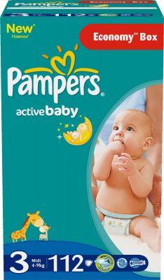 Подгузники Pampers Active Baby 3 Midi Giant Plus Pack (112шт) - общий вид