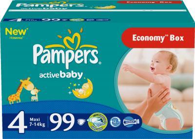 Подгузники Pampers Active Baby 4 Maxi Giant Plus Pack (99шт) - общий вид