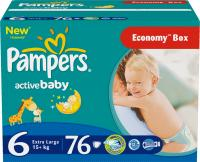 Подгузники Pampers Active Baby 6 Extra Large Giant Plus Pack (76шт) -