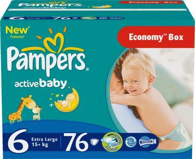 Подгузники Pampers Active Baby 6 Extra Large Giant Plus Pack (76шт) - общий вид