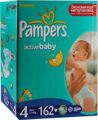 Подгузники Pampers Active Baby 4 Maxi Mega Plus Pack (162шт) - общий вид