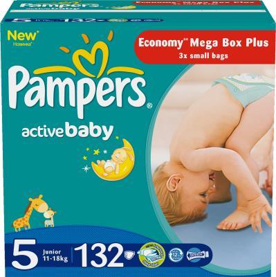 Подгузники Pampers Active Baby 5 Junior Mega Plus Pack (132шт) - общий вид