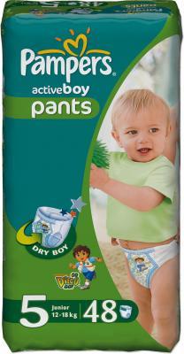Подгузники-трусики Pampers Active Boy 5 Junior (48шт) - общий вид