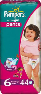 Подгузники-трусики Pampers Active Girl 6 Extra Large (44шт) - общий вид