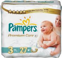 Подгузники Pampers Premium Care 3 Midi Carry Pack (27шт) -