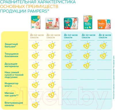 Подгузники Pampers Premium Care 3 Midi Value Pack (60шт) - таблица преимуществ