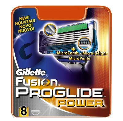 Сменные кассеты Gillette Fusion ProGlide Power (8шт) - общий вид