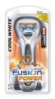 Бритвенный станок Gillette Fusion Power CoolWhite (+ 1 кассета) -