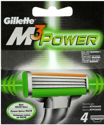 Сменные кассеты Gillette Mach3 Power (4шт) - общий вид