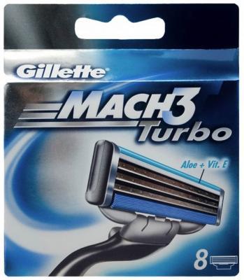 Сменные кассеты Gillette Mach3 Turbo Алоэ (8шт) - общий вид
