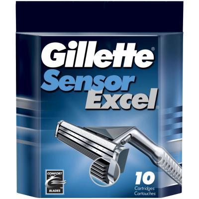 Сменные кассеты Gillette Sensor Excel (10шт) - общий вид