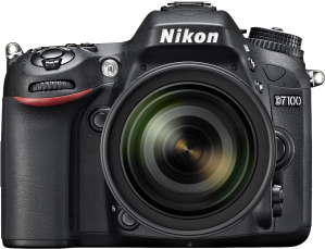Зеркальный фотоаппарат Nikon D7100 Kit (16-85mm VR) - вид спереди