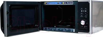 Микроволновая печь Samsung MS23F302TAS - с открытой крышкой