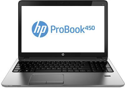 Ноутбук HP ProBook 450 G0 (H6E48EA) - фронтальный вид