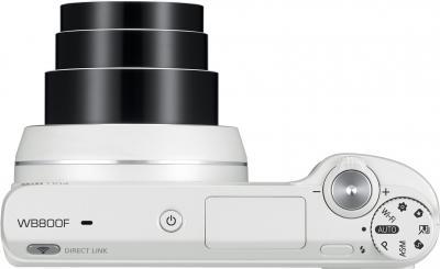 Компактный фотоаппарат Samsung WB800F (White, EC-WB800FFPWRU) - вид сверху