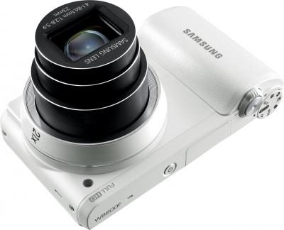 Компактный фотоаппарат Samsung WB800F (White, EC-WB800FFPWRU) - общий вид