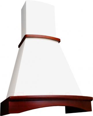 Вытяжка купольная Elikor Ротонда 50 (бежевый/бук светло-коричневый) - общий вид