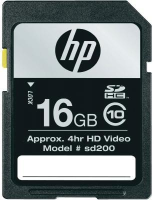 Карта памяти HP SDHC (Class 10) 16GB (SD16GBHC10HP-EF) - общий вид