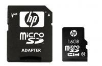 Карта памяти HP microSDHC 16Gb Class 10 + SD adapter (SDU16GBHC10HP-EF) -