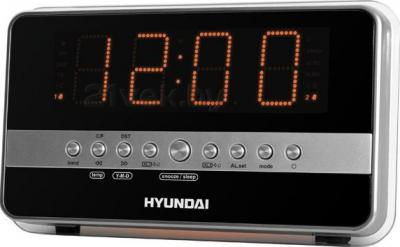 Радиочасы Hyundai H-1549 (Silver-Orange) - общий вид