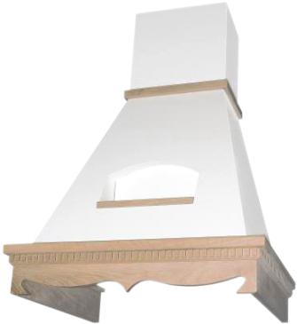 Вытяжка купольная Elikor Бельведер 60 (бежевый/бук светло-коричневый) - общий вид