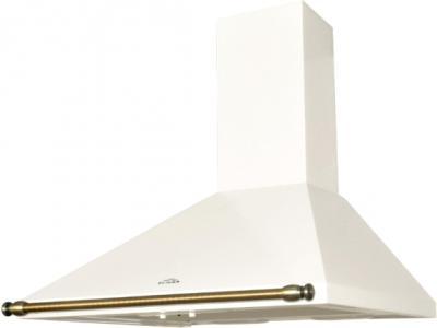 Вытяжка купольная Elikor Вента 60П-430-П3Л (молоко/рейлинг золото) - общий вид