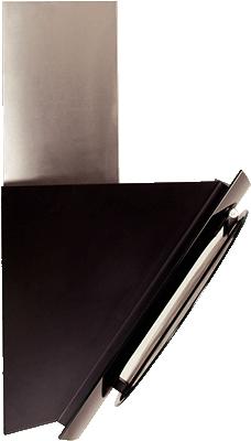 Вытяжка декоративная Elikor Графит (60 Inox-Black Glass) - вид сбоку