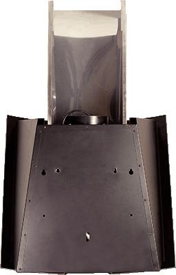 Вытяжка декоративная Elikor Графит (60 Inox-Black Glass) - вид сзади
