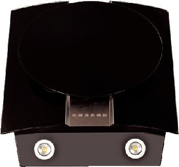 Вытяжка декоративная Elikor Графит (60 Inox-Black Glass) - общий вид