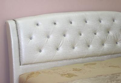 Двуспальная кровать Королевство сна Insigne (160x200 жемчужная) - спинка