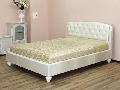 Двуспальная кровать Королевство сна Insigne (160x200 жемчужная) - в интерьере
