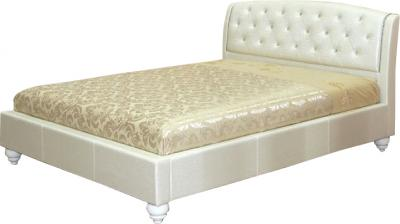 Двуспальная кровать Королевство сна Insigne (180x200 жемчужная) - общий вид