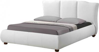Двуспальная кровать Королевство сна LONTARO (160x200 жемчужная) - общий вид