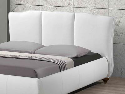 Двуспальная кровать Королевство сна LONTARO (160x200 жемчужная) - обивка из экокожи