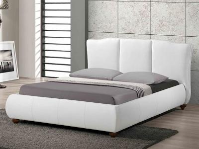 Двуспальная кровать Королевство сна LONTARO (160x200 жемчужная) - в интерьере
