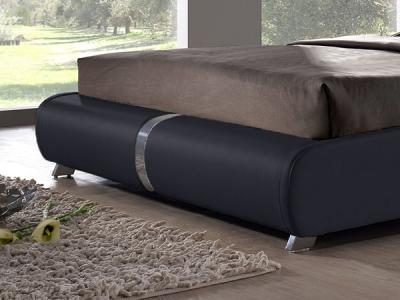 Двуспальная кровать Королевство сна VERA (160x200 белая с черным) - общий вид