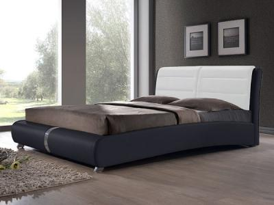 Двуспальная кровать Королевство сна VERA (180x200 белая с черным) - общий вид
