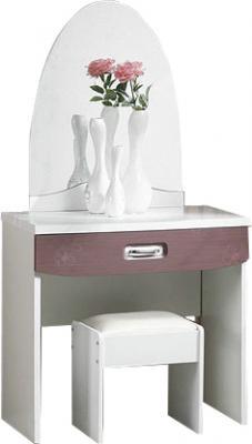 Туалетный столик с зеркалом Королевство сна Bellezza-001 (сиреневый с белым) - общий вид