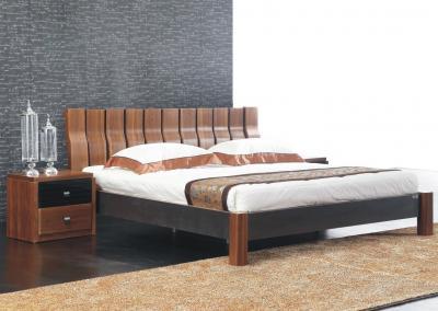 Кровать Королевство сна Moderno-002 (160х200 коричневая с черным)