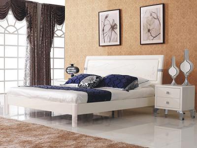 Двуспальная кровать Королевство сна Prestigio-003 160х200 (перламутровая с серебром) - в интерьере