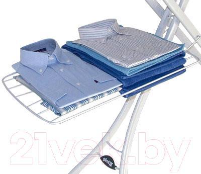 Гладильная доска Gimi Advance 140 (листья пурпурные) - одежда в комплектацию не входит/цвет основания на фото отличается, в продаже цвет - серебристый