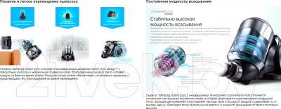 Пылесос Samsung SC20F70HC (VC20F70HUCC/EV) - преимущества модели